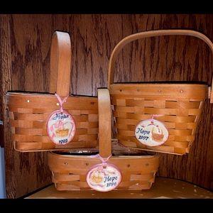 Longaberger set of Horizon of Hope baskets